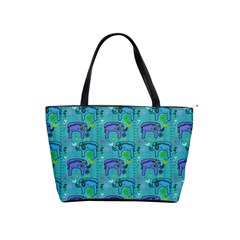 Elephants Animals Pattern Shoulder Handbags