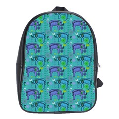 Elephants Animals Pattern School Bags(Large)