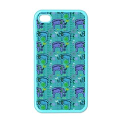 Elephants Animals Pattern Apple Iphone 4 Case (color)