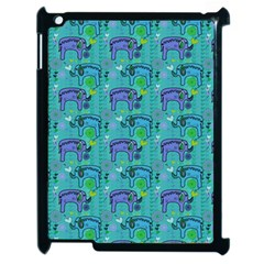 Elephants Animals Pattern Apple Ipad 2 Case (black)