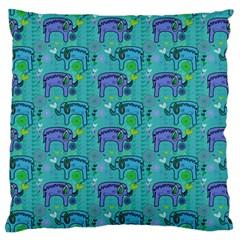 Elephants Animals Pattern Large Cushion Case (one Side)