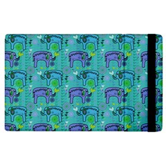 Elephants Animals Pattern Apple Ipad 2 Flip Case