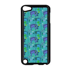 Elephants Animals Pattern Apple iPod Touch 5 Case (Black)