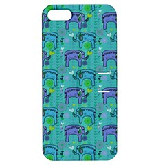 Elephants Animals Pattern Apple Iphone 5 Hardshell Case With Stand