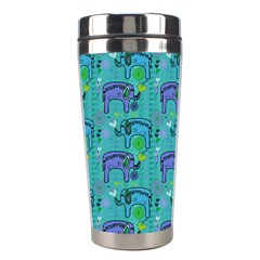 Elephants Animals Pattern Stainless Steel Travel Tumblers
