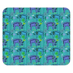 Elephants Animals Pattern Double Sided Flano Blanket (small)