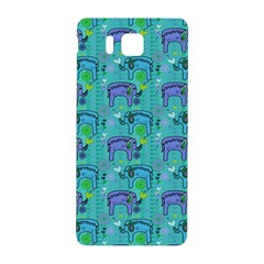 Elephants Animals Pattern Samsung Galaxy Alpha Hardshell Back Case