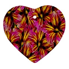 Floral Pattern Background Seamless Ornament (heart)