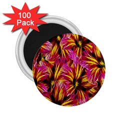 Floral Pattern Background Seamless 2 25  Magnets (100 Pack)