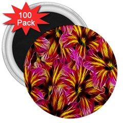 Floral Pattern Background Seamless 3  Magnets (100 pack)