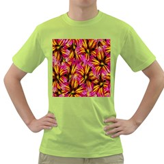 Floral Pattern Background Seamless Green T Shirt