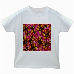 Floral Pattern Background Seamless Kids White T Shirts