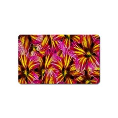 Floral Pattern Background Seamless Magnet (Name Card)