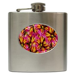 Floral Pattern Background Seamless Hip Flask (6 oz)
