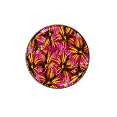 Floral Pattern Background Seamless Hat Clip Ball Marker (4 Pack)