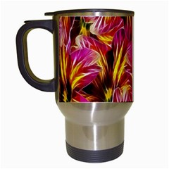 Floral Pattern Background Seamless Travel Mugs (White)