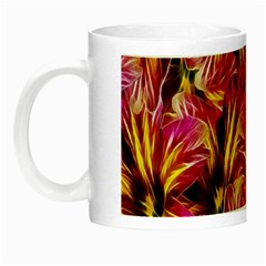 Floral Pattern Background Seamless Night Luminous Mugs