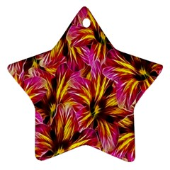 Floral Pattern Background Seamless Star Ornament (Two Sides)