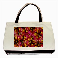 Floral Pattern Background Seamless Basic Tote Bag (two Sides)