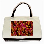 Floral Pattern Background Seamless Basic Tote Bag (Two Sides) Back