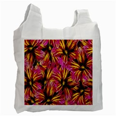 Floral Pattern Background Seamless Recycle Bag (two Side)
