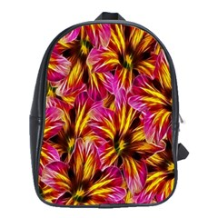 Floral Pattern Background Seamless School Bags(Large)
