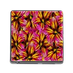 Floral Pattern Background Seamless Memory Card Reader (Square)