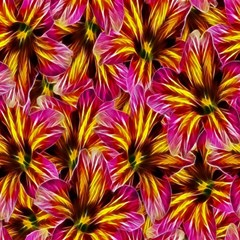 Floral Pattern Background Seamless Magic Photo Cubes