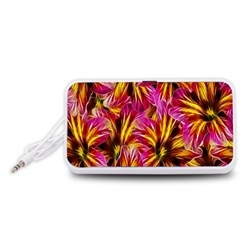 Floral Pattern Background Seamless Portable Speaker (White)