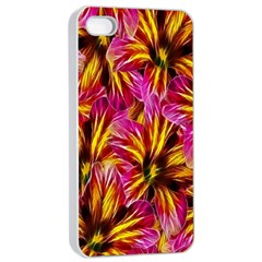 Floral Pattern Background Seamless Apple iPhone 4/4s Seamless Case (White)