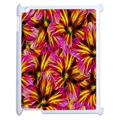 Floral Pattern Background Seamless Apple iPad 2 Case (White)