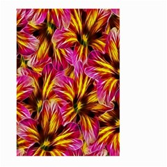 Floral Pattern Background Seamless Large Garden Flag (two Sides)