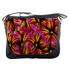 Floral Pattern Background Seamless Messenger Bags