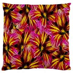 Floral Pattern Background Seamless Large Cushion Case (Two Sides)