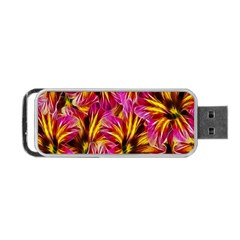 Floral Pattern Background Seamless Portable USB Flash (One Side)