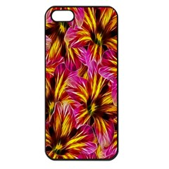 Floral Pattern Background Seamless Apple iPhone 5 Seamless Case (Black)