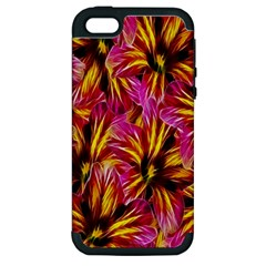 Floral Pattern Background Seamless Apple iPhone 5 Hardshell Case (PC+Silicone)