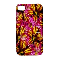Floral Pattern Background Seamless Apple iPhone 4/4S Hardshell Case with Stand