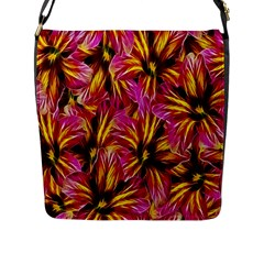 Floral Pattern Background Seamless Flap Messenger Bag (L)