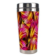 Floral Pattern Background Seamless Stainless Steel Travel Tumblers