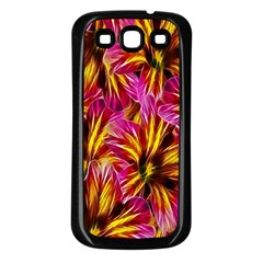 Floral Pattern Background Seamless Samsung Galaxy S3 Back Case (black)
