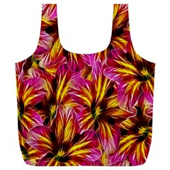 Floral Pattern Background Seamless Full Print Recycle Bags (l)