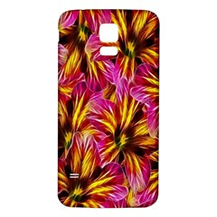 Floral Pattern Background Seamless Samsung Galaxy S5 Back Case (White)