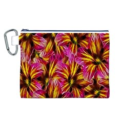 Floral Pattern Background Seamless Canvas Cosmetic Bag (l)