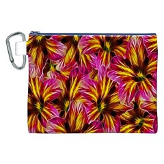 Floral Pattern Background Seamless Canvas Cosmetic Bag (xxl)