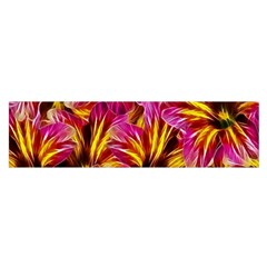 Floral Pattern Background Seamless Satin Scarf (Oblong)