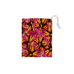Floral Pattern Background Seamless Drawstring Pouches (xs)