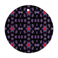 Digital Computer Graphic Seamless Wallpaper Ornament (Round)