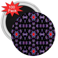 Digital Computer Graphic Seamless Wallpaper 3  Magnets (100 Pack)