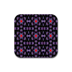 Digital Computer Graphic Seamless Wallpaper Rubber Square Coaster (4 Pack)